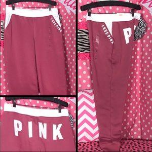 Pink Victoria's Secret classic Jogger sweatpants